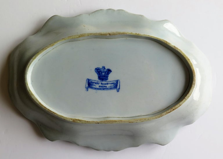 Mason's Ironstone Serving Dish Blue and White India Pheasants Pattern,circa 1820 For Sale 3