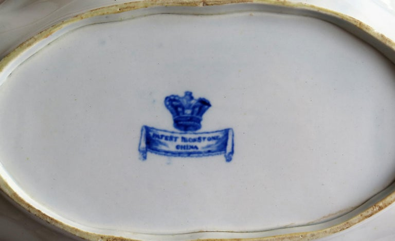 Mason's Ironstone Serving Dish Blue and White India Pheasants Pattern,circa 1820 For Sale 6