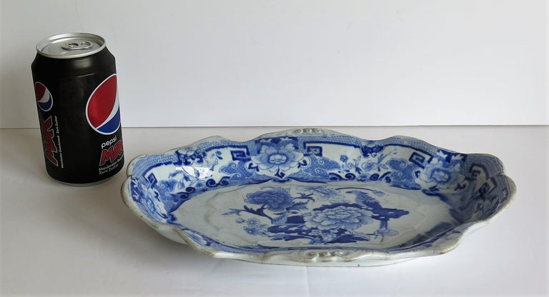 Mason's Ironstone Serving Dish Blue and White India Pheasants Pattern,circa 1820 For Sale 7