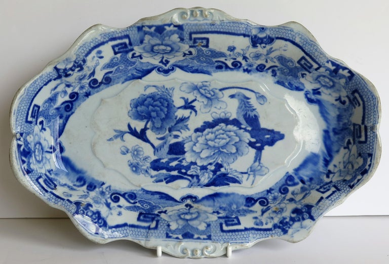 This is a very early Mason's ironstone desert or serving dish, circa 1815-1820.