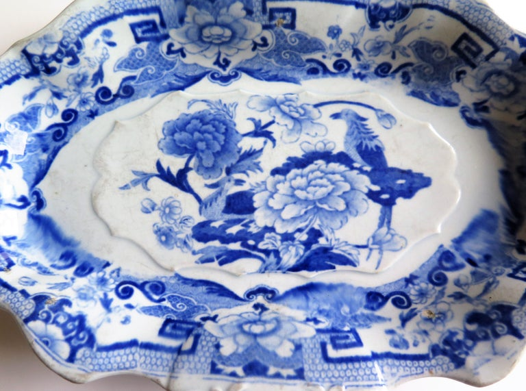 Mason's Ironstone Serving Dish Blue and White India Pheasants Pattern,circa 1820 For Sale 1
