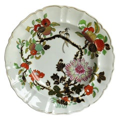 Mason's Ironstone Soup Bowl or Plate Hand Painted Wood Pigeon Pattern circa 1830