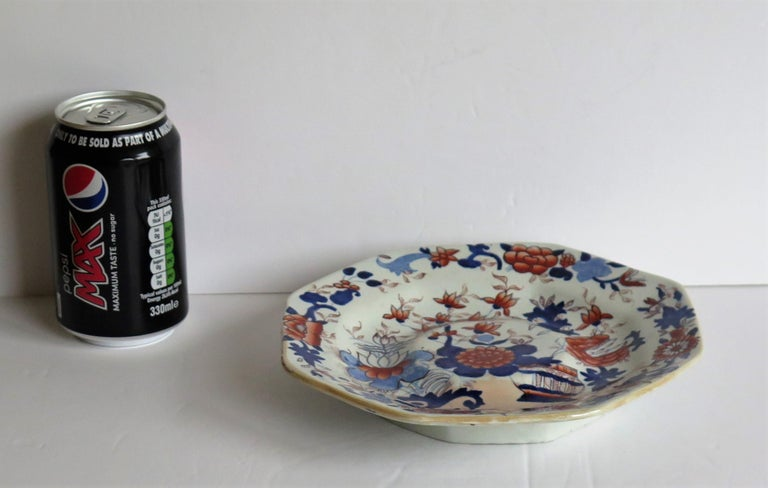 Mason's Ironstone Stand or Footed Octagonal Plate Japan Basket Pattern 9