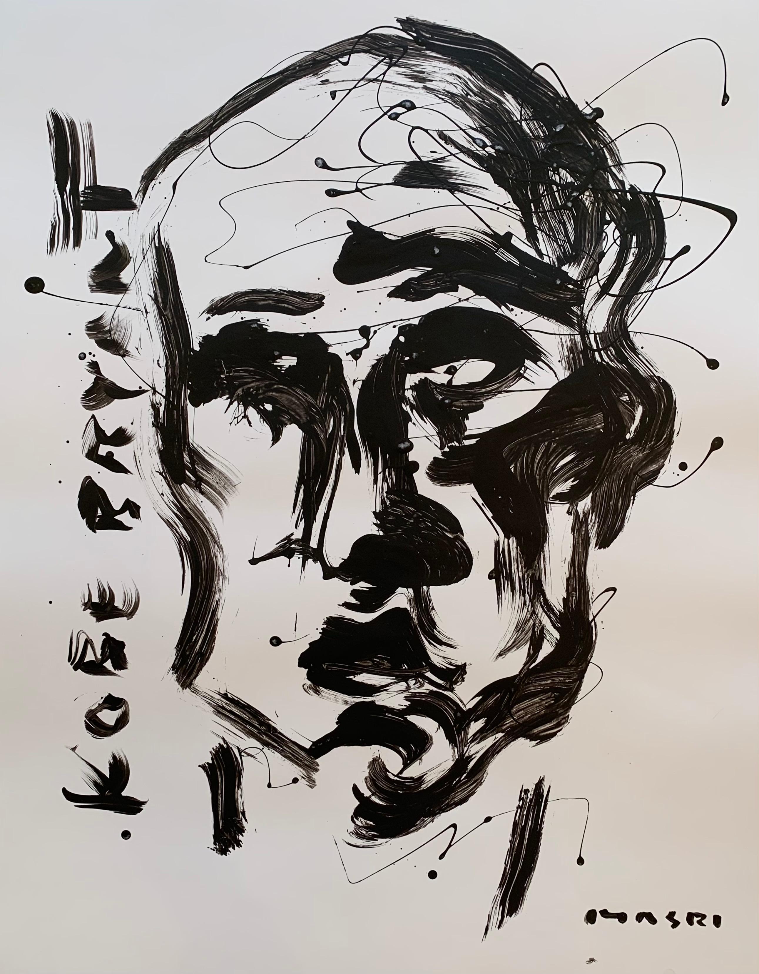 """Kobe Bryant"" Oil on paper Original piece by Masri"
