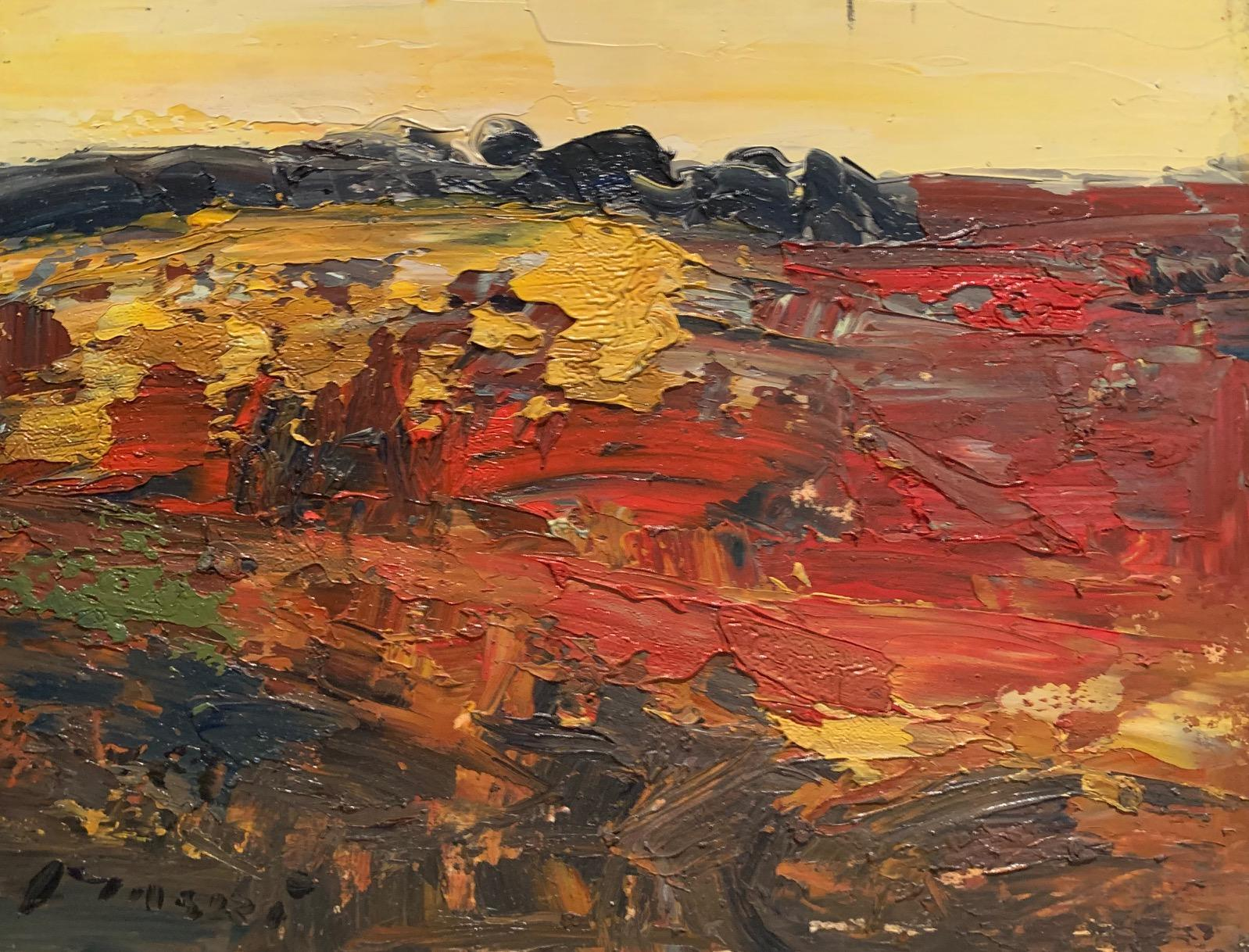 """""""Sunset colours of the twilight hours"""" oil on canvas by Masri"""