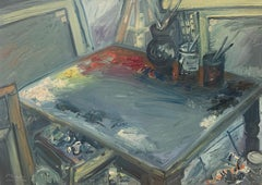 """The Studio"" oil on canvas by Masri"