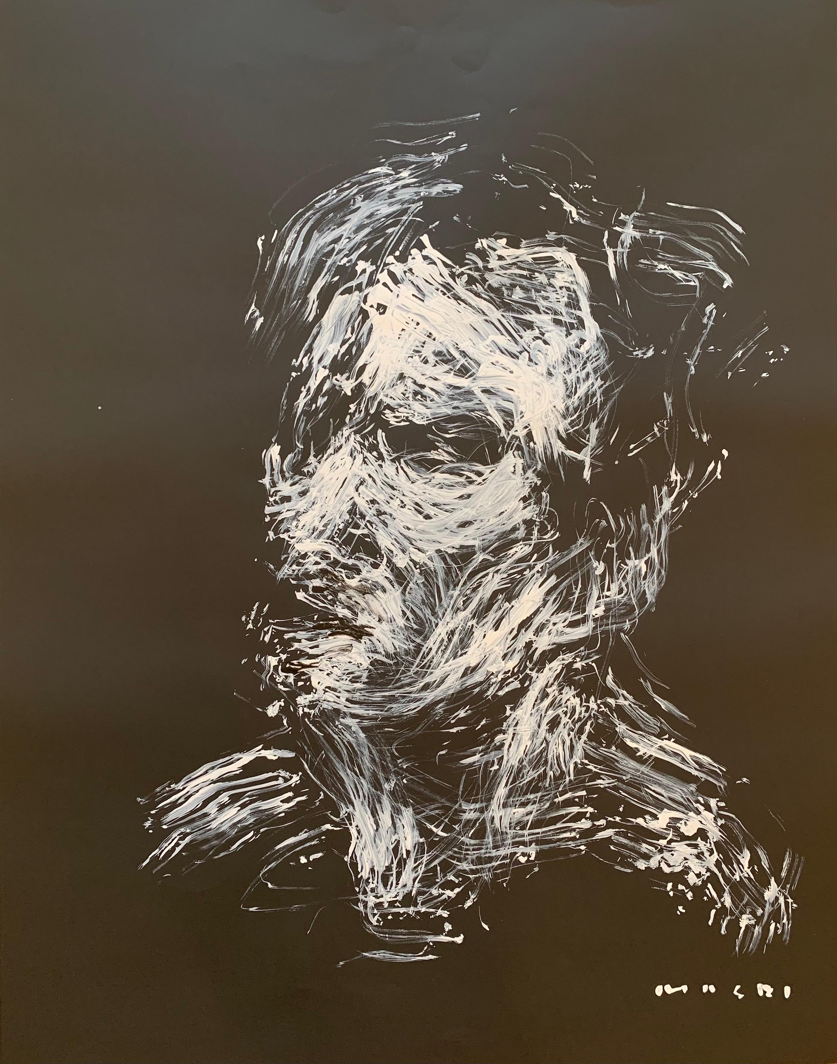 """self portrait-homage to Van Gogh"" Oil on paper Original piece by Masri"