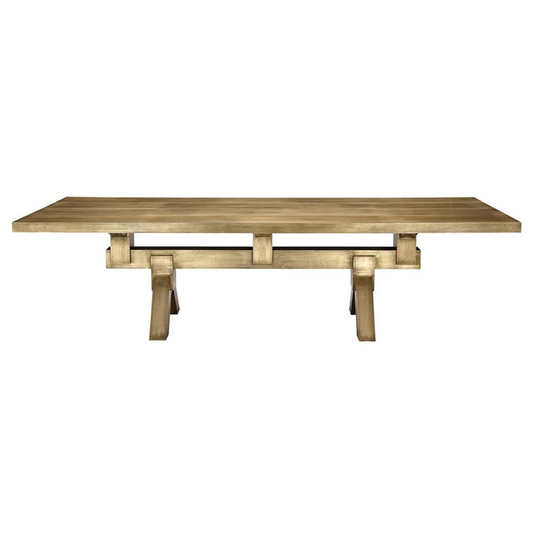 Mass Dining Table in Brass by Tom Dixon For Sale