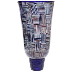 Massimiliano Schiavon for Pauly, Vaso a Tessere, Three Avventurina Colors Stripe