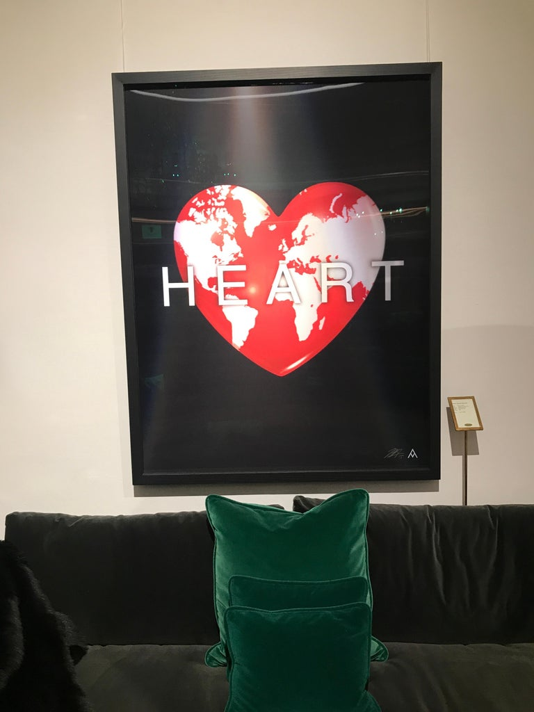 Contemporary Massimo Agostinelli Heart Earth 2015 Anagrams Series Lenticular Print For Sale