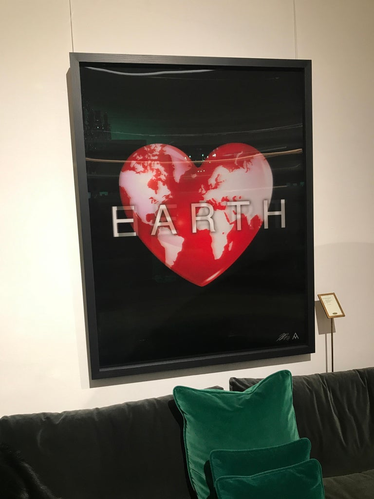 Mirror Massimo Agostinelli Heart Earth 2015 Anagrams Series Lenticular Print For Sale