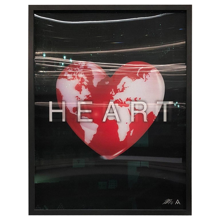 Massimo Agostinelli Heart Earth 2015 Anagrams Series Lenticular Print For Sale