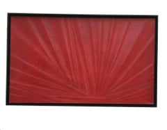 THE RED SUN - Massimo Caiafa Abastract Oil on Canvas, Italy.2021