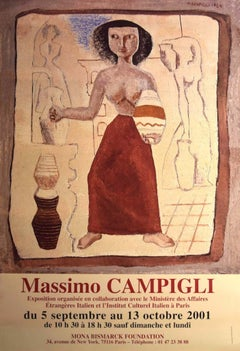 Woman - Vintage Poster after Massimo Campigli - 2001