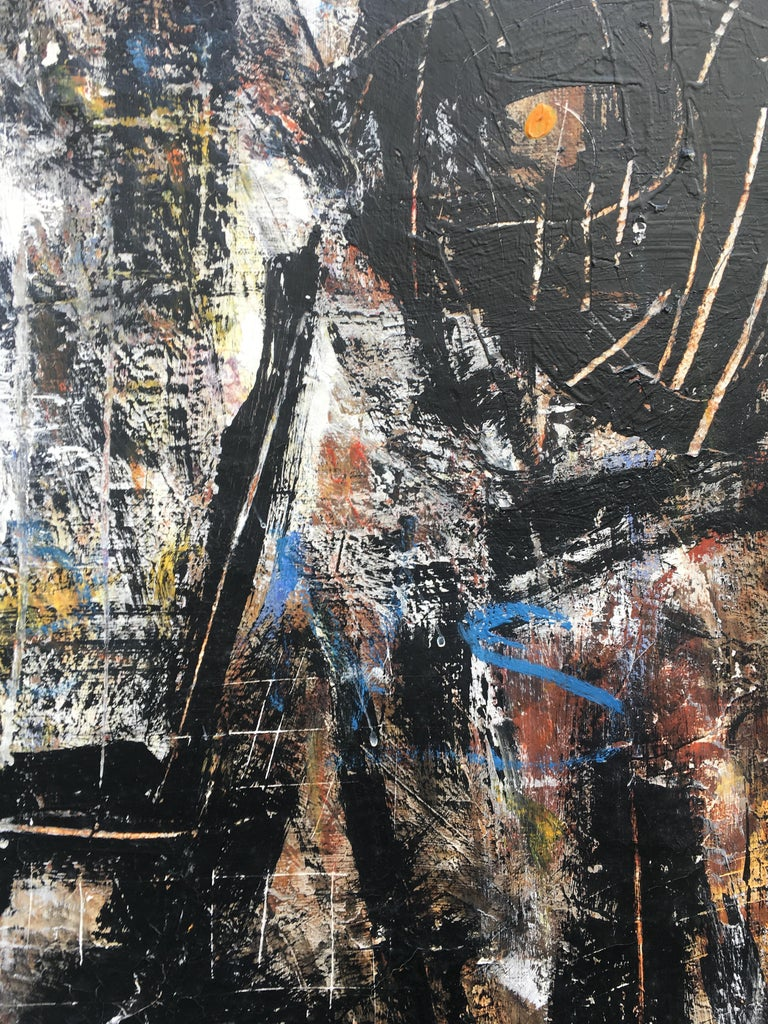 FIND N.6 - Italian abstract oil on canvas painting, Massimo D'Orta For Sale 1