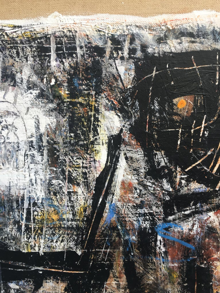 FIND N.6 - Italian abstract oil on canvas painting, Massimo D'Orta For Sale 2