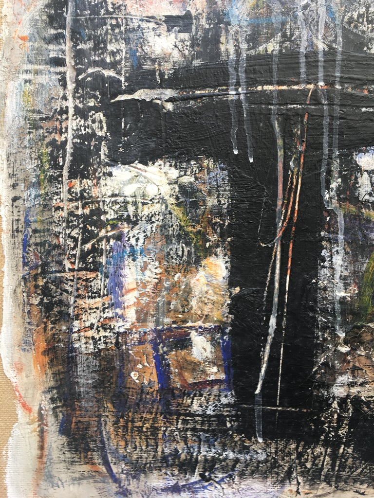 FIND N.6 - Italian abstract oil on canvas painting, Massimo D'Orta For Sale 3
