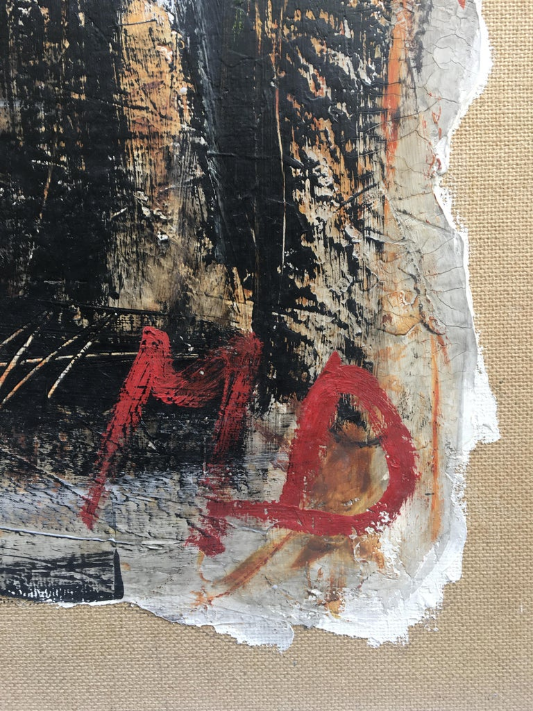 FIND N.6 - Italian abstract oil on canvas painting, Massimo D'Orta For Sale 4