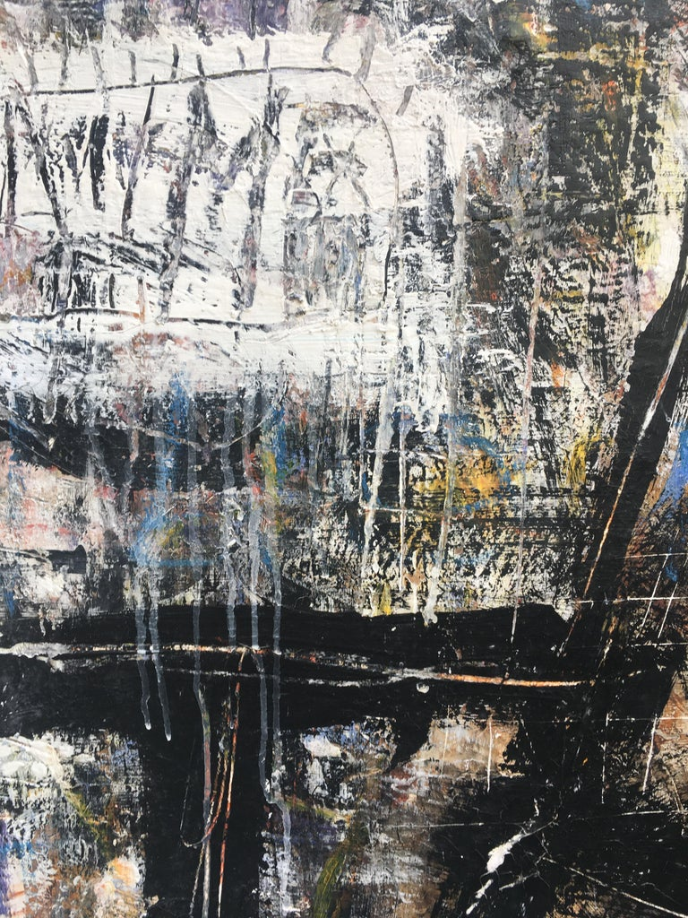 FIND N.6 - Italian abstract oil on canvas painting, Massimo D'Orta For Sale 5