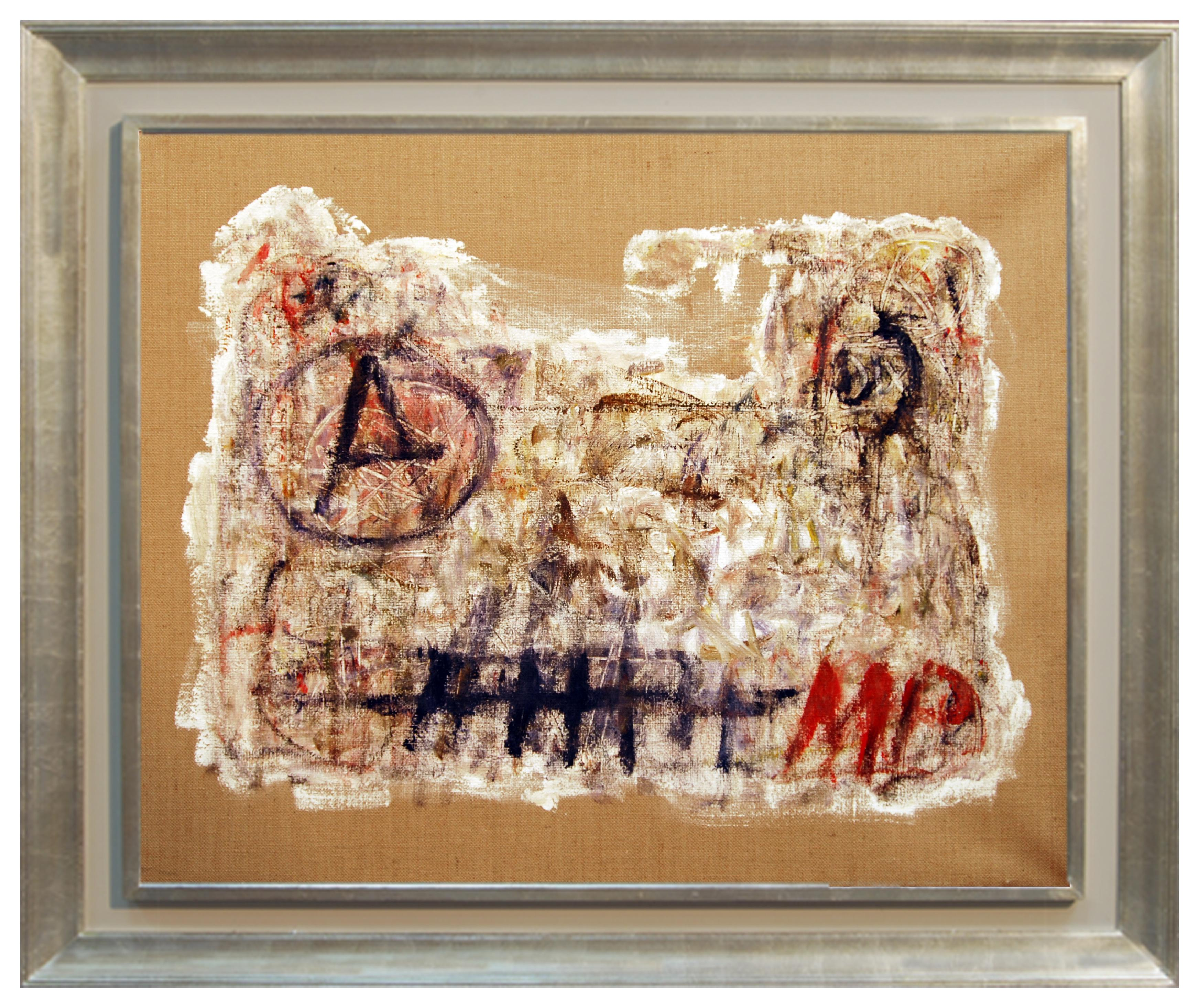 FIND N.6 - Italian abstract oil on canvas panting, Massimo D'Orta