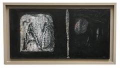 IT WAS INEVITABLE - Italian abstract oil on canvas painting, Massimo D'Orta