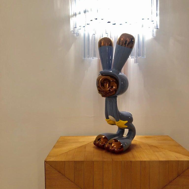 """Contemporary Massimo Giacon Modern """"Coniglieschio"""" Italian Sculpture For Sale"""