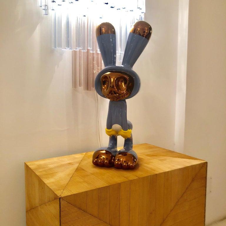 "Ceramic Massimo Giacon Modern ""Coniglieschio"" Italian Sculpture For Sale"