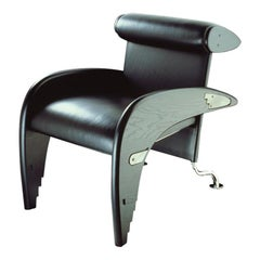 Massimo Iosa Ghini Otello Leather Armchair for Memphis Srl