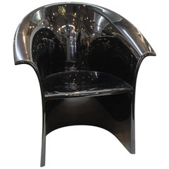 Massimo and Lella Vignelli for Heller Modern Black Resin Armchair