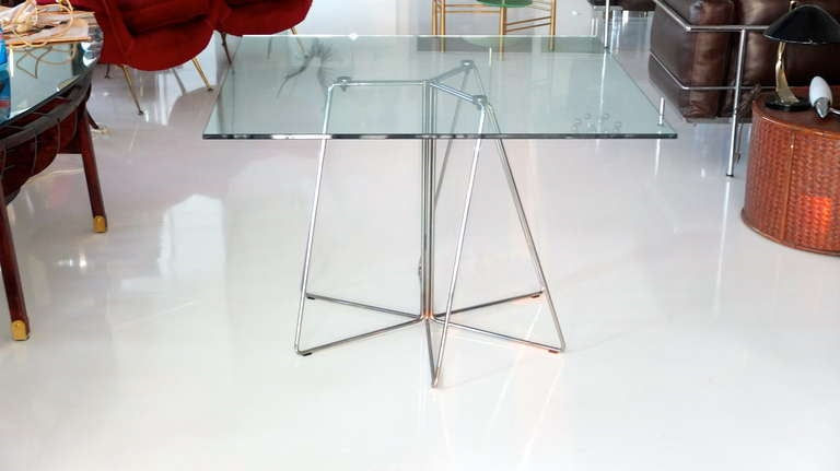 Massimo & Lella Vignelli Paperclip Table for Knoll In Good Condition In Hingham, MA