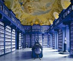 Seitenstetten Library, Austria - beautiful blue & yellow interior portrait
