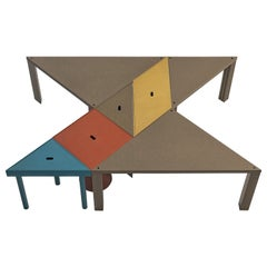 Massimo Morozzi for Cassina Modular 'Tangram' Dining Table in Colorful Beech
