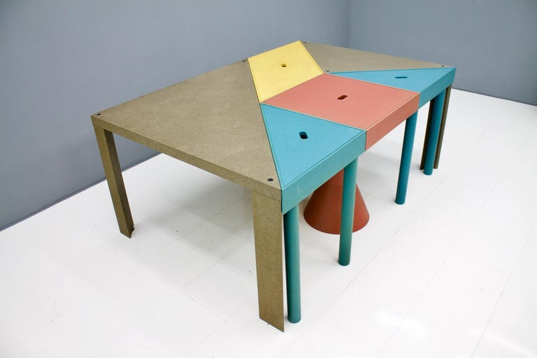 Massimo Morozzi Tangram Tables for Cassina, 1983 In Good Condition For Sale In Frankfurt / Dreieich, DE