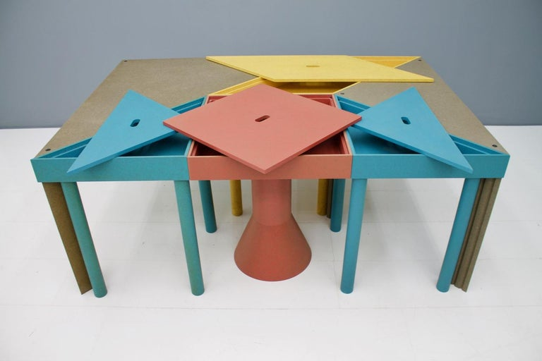 Late 20th Century Massimo Morozzi Tangram Tables for Cassina, 1983 For Sale