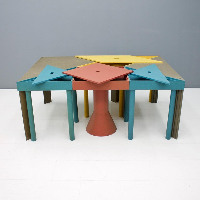 Wood Massimo Morozzi Tangram Tables for Cassina, 1983 For Sale