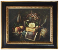 STILL LIFE - Massimo Reggiani Italian oil on canvas painting