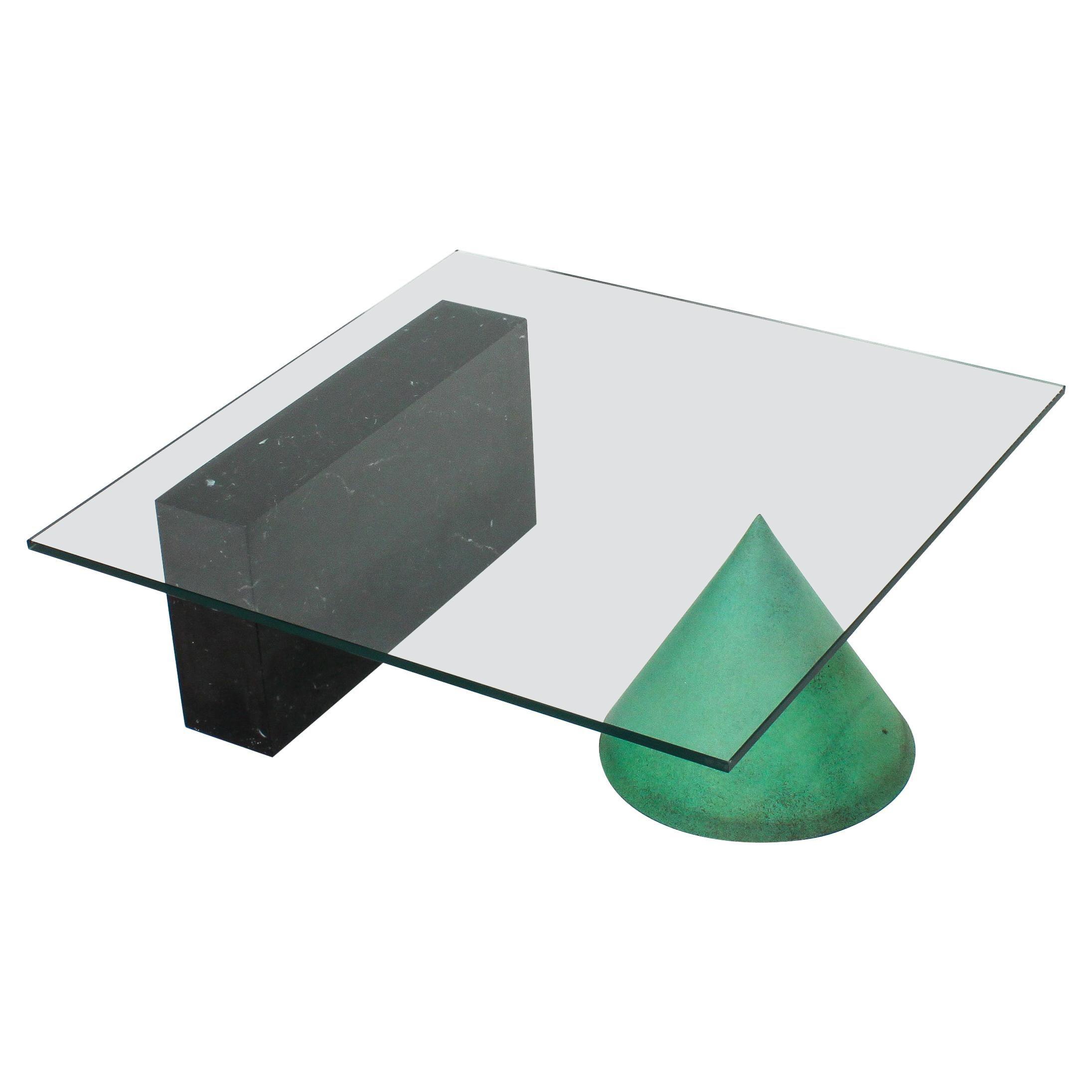 """Massimo Vignelli and Lella Vignelli """"Kono"""" Coffee Table for Casigliani, 1979"""