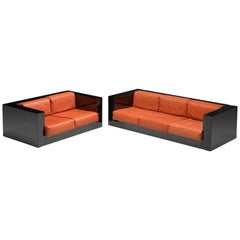 Massimo Vignelli Black and Red 'Saratoga' Living Room Set
