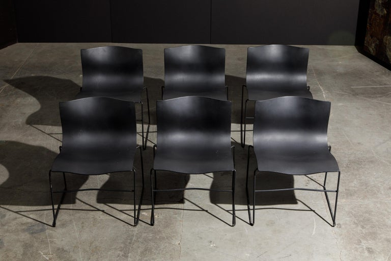 Massimo Vignelli for Knoll Intl 'Handkerchief' Chairs, Signed, Set of Twelve For Sale 4