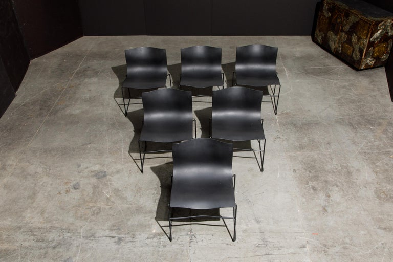 Massimo Vignelli for Knoll Intl 'Handkerchief' Chairs, Signed, Set of Twelve For Sale 6