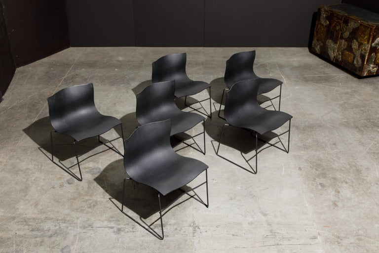 Massimo Vignelli for Knoll Intl 'Handkerchief' Chairs, Signed, Set of Twelve For Sale 7