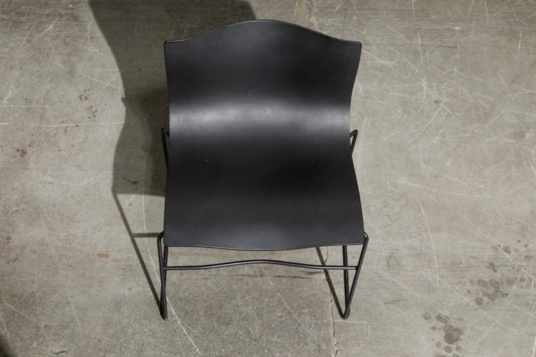 Steel Massimo Vignelli for Knoll Intl 'Handkerchief' Chairs, Signed, Set of Twelve For Sale