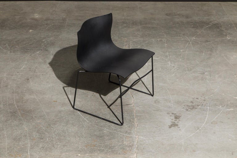 Powder-Coated Massimo Vignelli for Knoll Intl 'Handkerchief' Stacking Chairs, Signed, 60 Avail For Sale