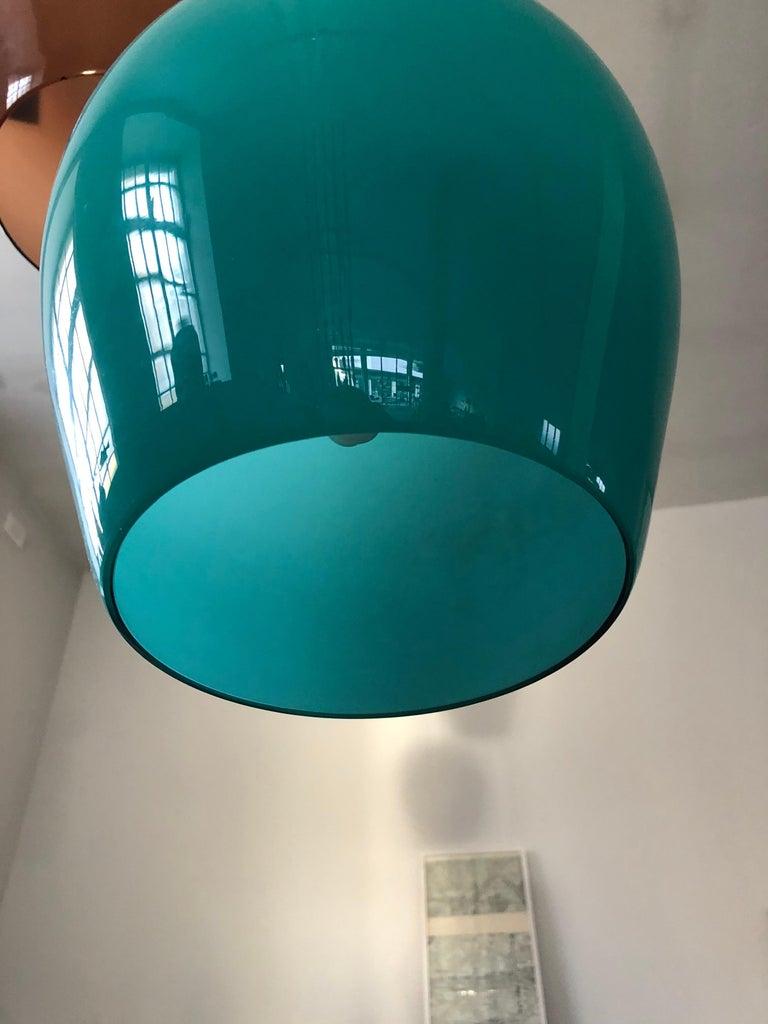 Massimo Vignelli for Venini Italian Midcentury Murano Pendant Glass Lamp, 1950s For Sale 6