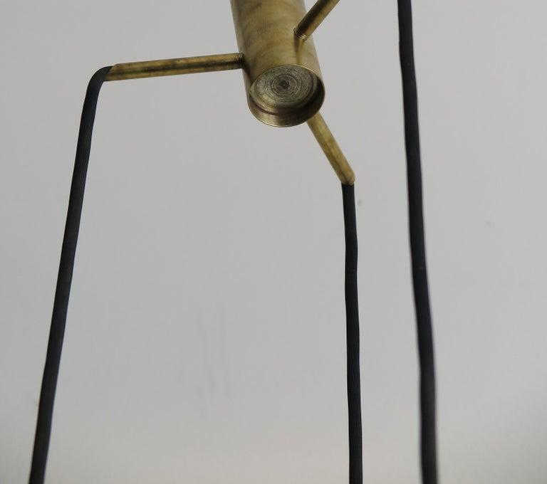 Massimo Vignelli for Venini Italian Midcentury Murano Pendant Glass Lamp, 1950s For Sale 1