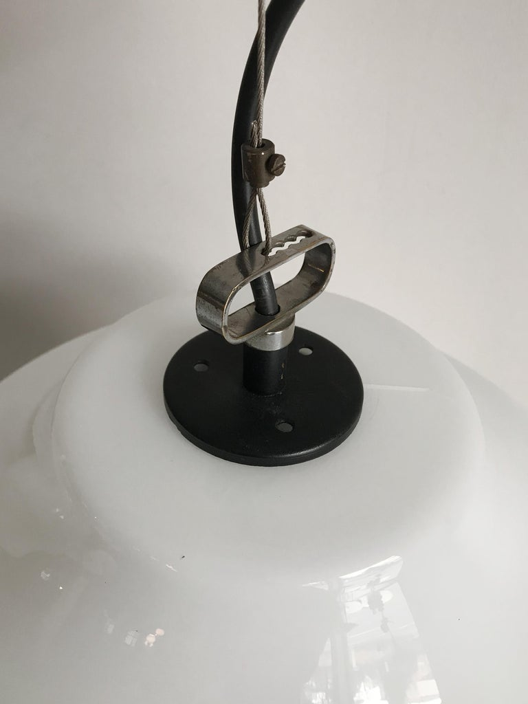 Massimo Vignelli for Venini Murano Italian Pendant Lamps, 1960s For Sale 5