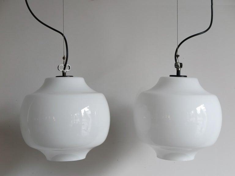 Mid-17th Century Massimo Vignelli for Venini Murano Italian Pendant Lamps, 1960s For Sale