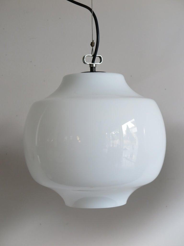 Metal Massimo Vignelli for Venini Murano Italian Pendant Lamps, 1960s For Sale