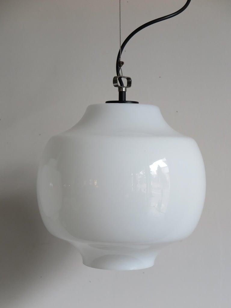 Massimo Vignelli for Venini Murano Italian Pendant Lamps, 1960s For Sale 1