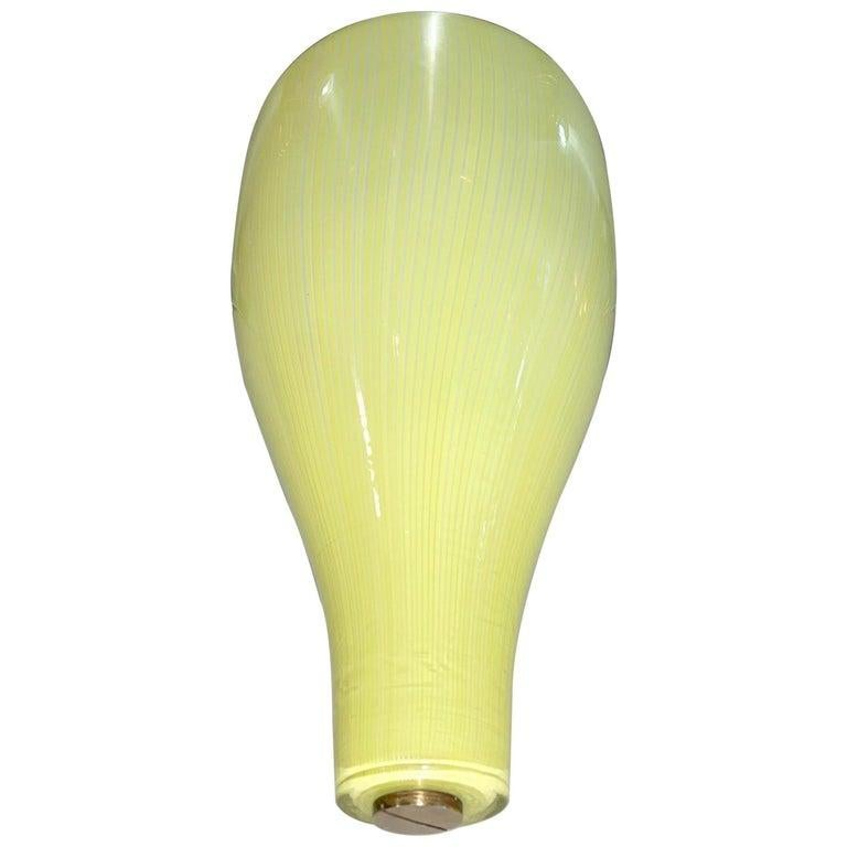 Massimo Vignelli for Venini Yellow Onion Glass Uplighter Wall Sconce For Sale 11